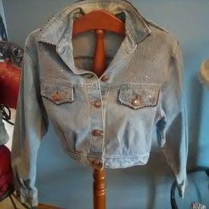 Vintage cache denim jean jacket